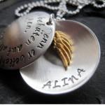 925 Silber Medaillon Namen Gravur