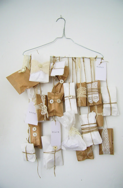 Adventskalender basteln aus Briefumschlägen