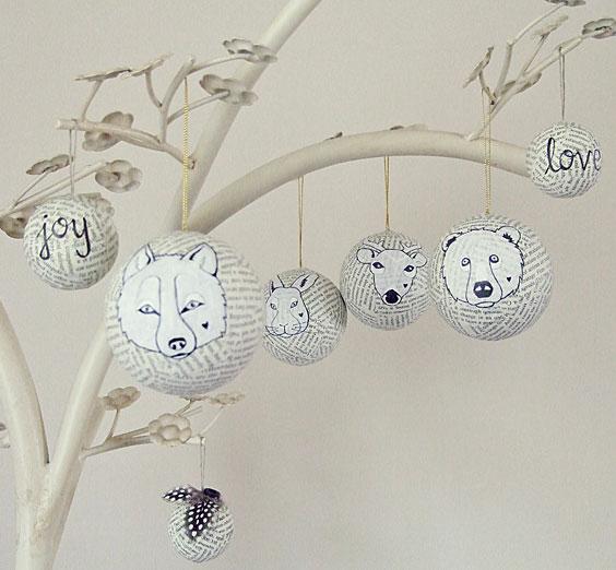 weihnachtskugeln basteln aus alten buchseiten kreativliste. Black Bedroom Furniture Sets. Home Design Ideas