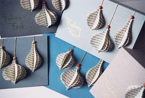 weihnachtskarten selber basteln aus tonkarton und alten. Black Bedroom Furniture Sets. Home Design Ideas