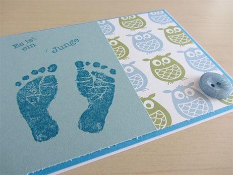 babykarten drucken lassen oder ganz kreativ selber basteln. Black Bedroom Furniture Sets. Home Design Ideas