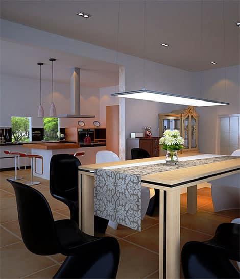led panels in schmaler bauweise lassen sich vielf ltig nutzen. Black Bedroom Furniture Sets. Home Design Ideas