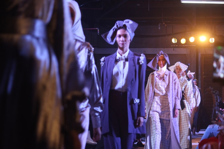 Modenschau auf der Fashion Week