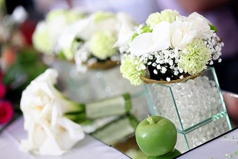 Blumen Hochzeitsdeko Tisch Kreativliste