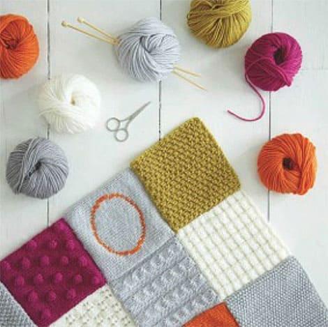 stricken lernen am beispiel einer patchworkdecke. Black Bedroom Furniture Sets. Home Design Ideas