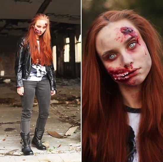 Wunden Gesicht Halloween