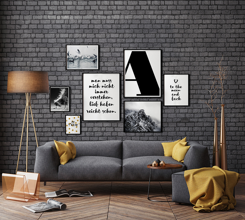 bilderwand gestalten kreativliste. Black Bedroom Furniture Sets. Home Design Ideas