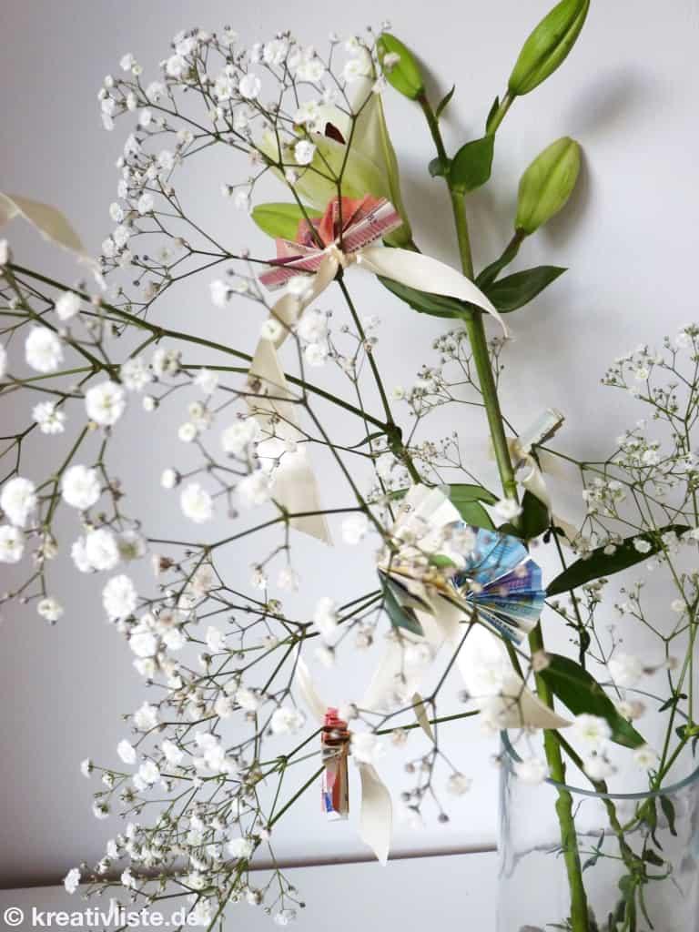 Geldgeschenk Basteln Mit Blumen Kreativliste
