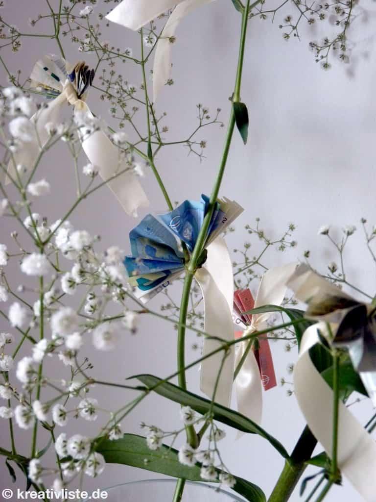 Geldgeschenk Aus Blumen Basteln Kreativliste