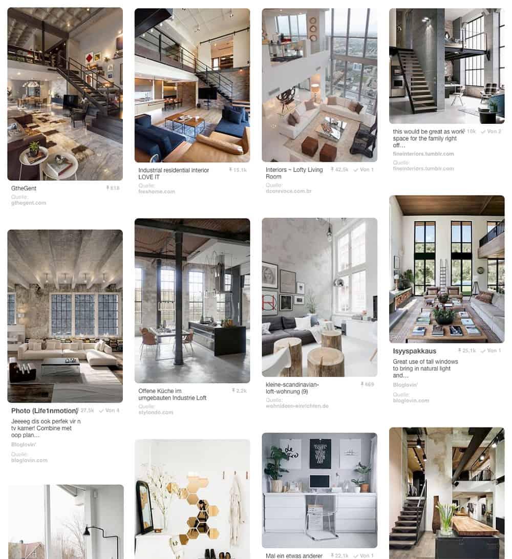 Pinnwand-modernes-wohnen