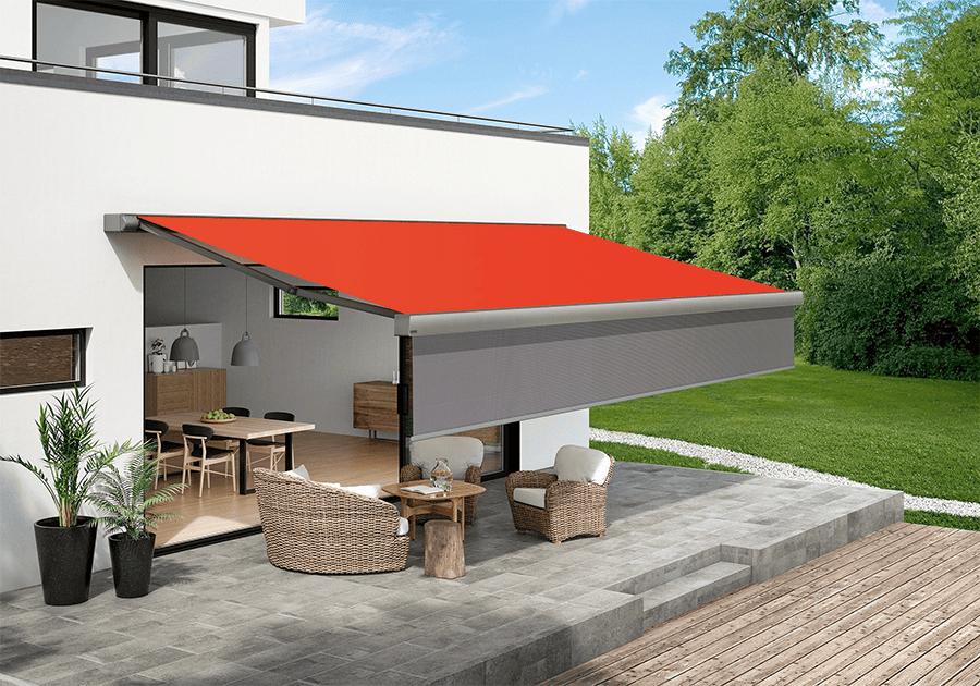 Mehr Komfort Auf Der Terrasse Durch Markise Mit Vertikaler