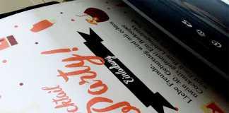 Die kostenlose Einladungskarte kann in drei verschiedenen Größen ausgedruckt werden