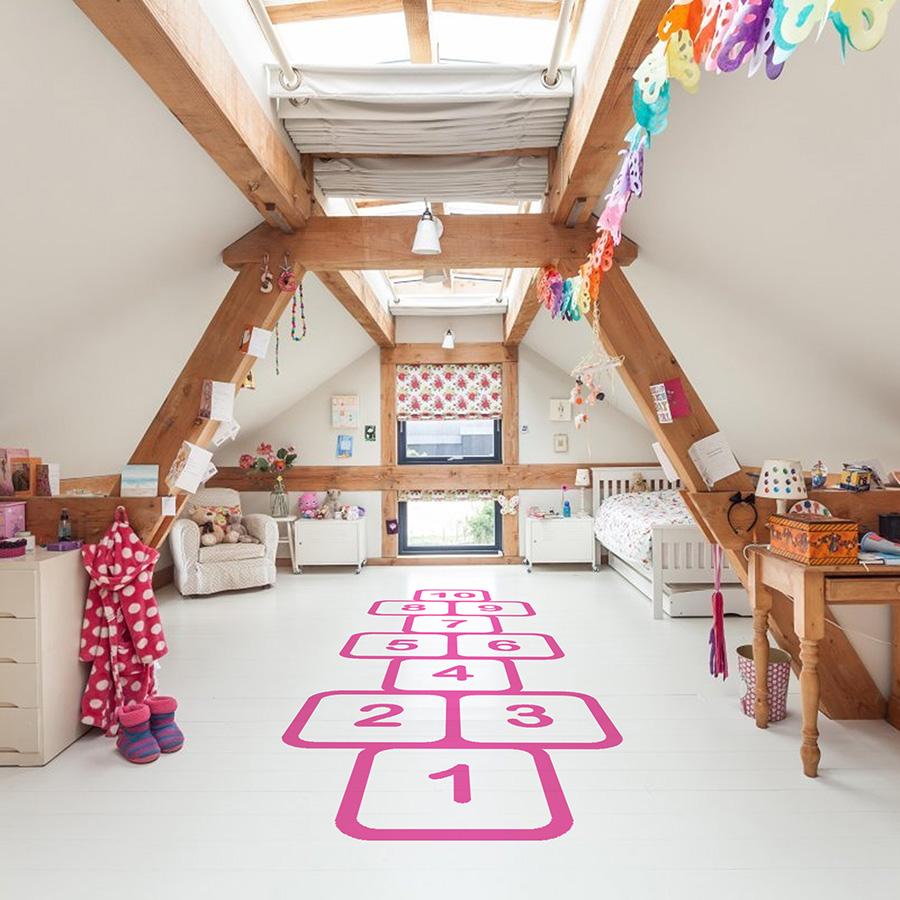 Bodenaufkleber Und Tafel 10 Ideen Fur Die Kreative Kinderzimmerdeko