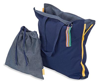 Diese praktische Tasche ist als itzgelegenheit nutzbar