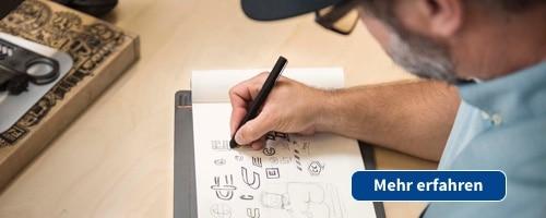 Mit dem Smartpad können handschriftliche Aufzeichnungen per Klick digitalisiert werden