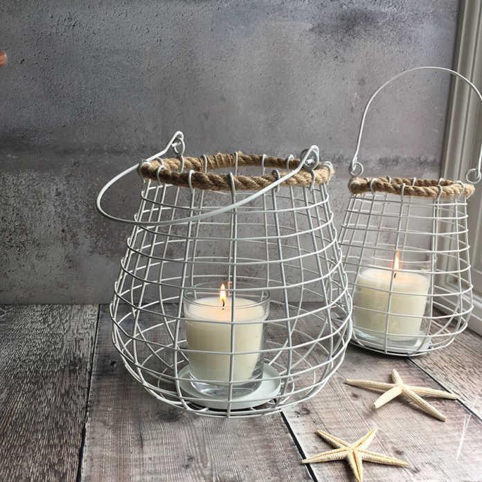 White Wire Lanterns