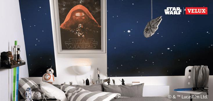 Starwars Motiv auf Jalousie