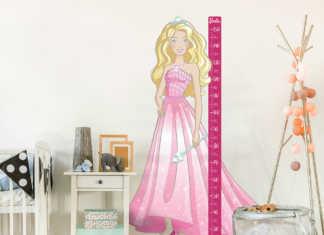 Wandaufkleber mit Barbiemotiv