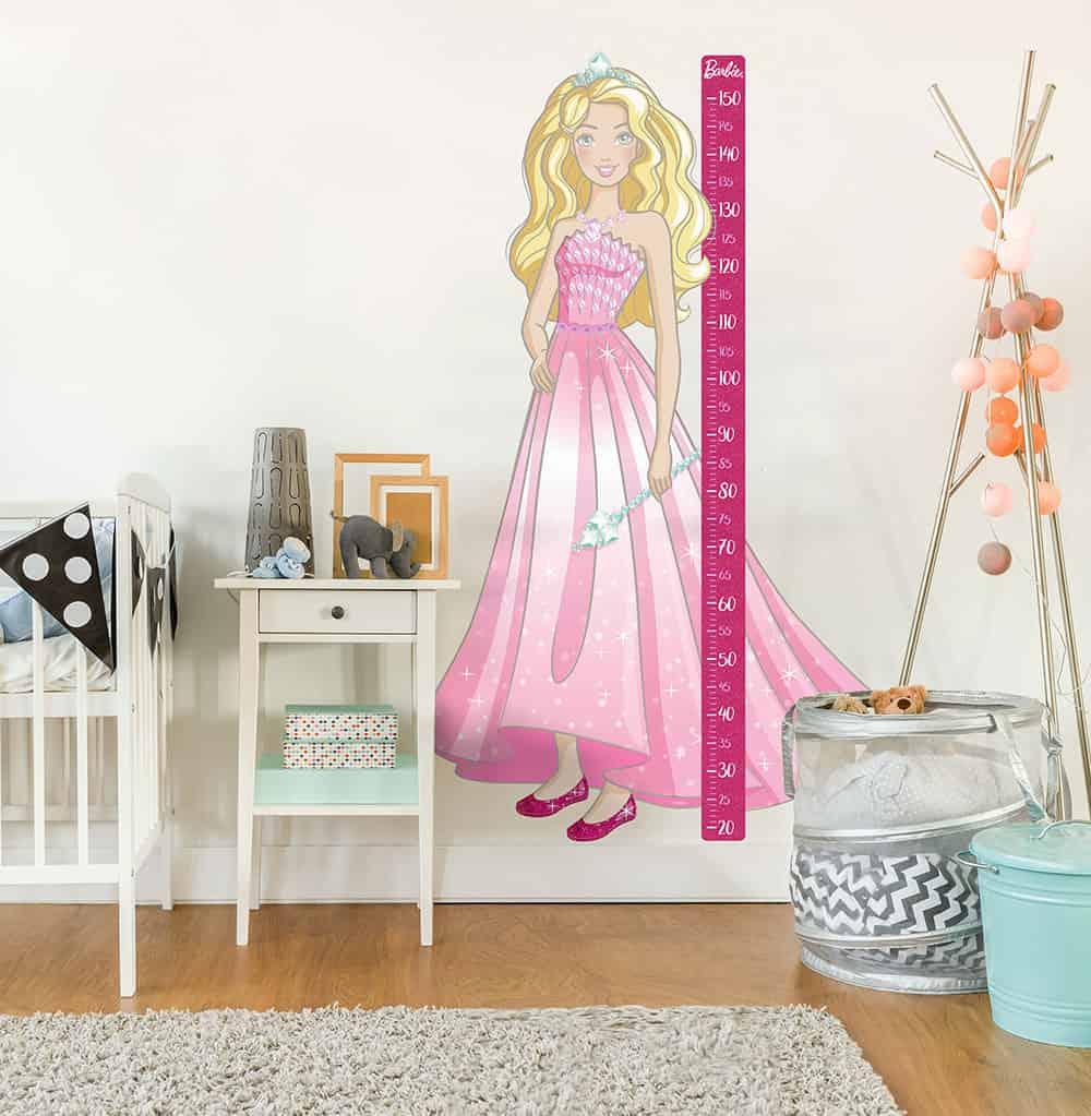 Wandaufkleber mit Barbiemotiv als Kinderzimmerdekoration