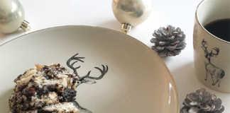 Weihnachtsdessert mit Mohn