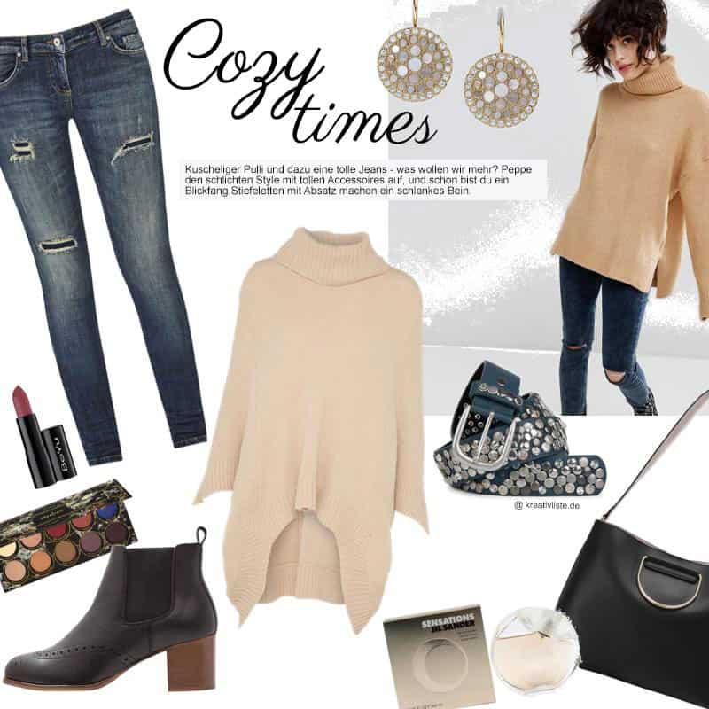 696e3d91e2d8b1 Outfit mit Rollkragenpullover zur engen Jeans - kreativLISTE
