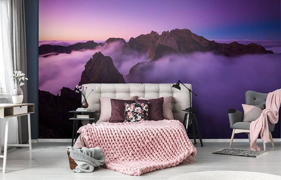 Ultra Violett im Schlafzimmer