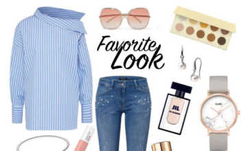 Outfitidee mit gestreifter Bluse