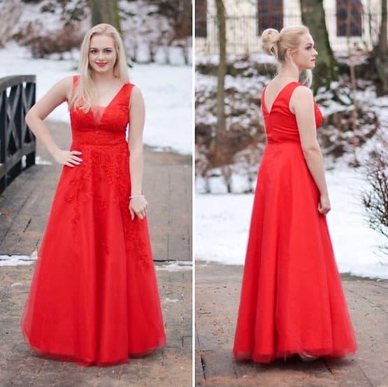 Klassisches Abendkleid in A-Linie