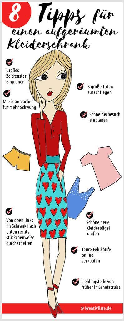 Tipps für einen aufgeräumten Kleiderschrank