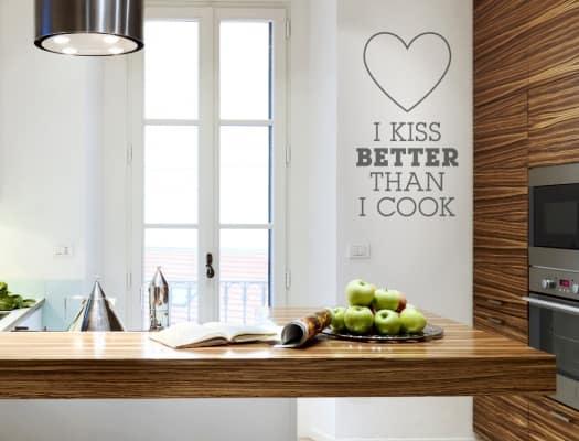Witziges Wandtattoo für die Küche