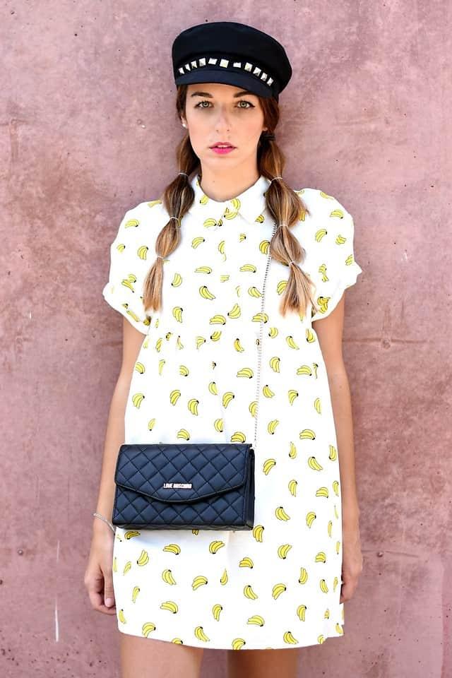 Niedliches Kleid mit Bananenprint