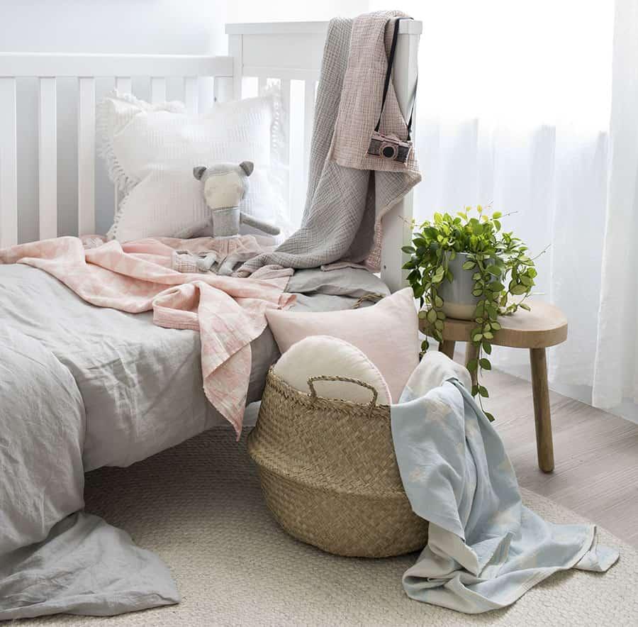 Korb im Schlafzimmer
