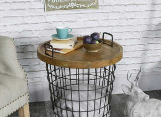 Aufbewahrungskorb mit Tischfunktion