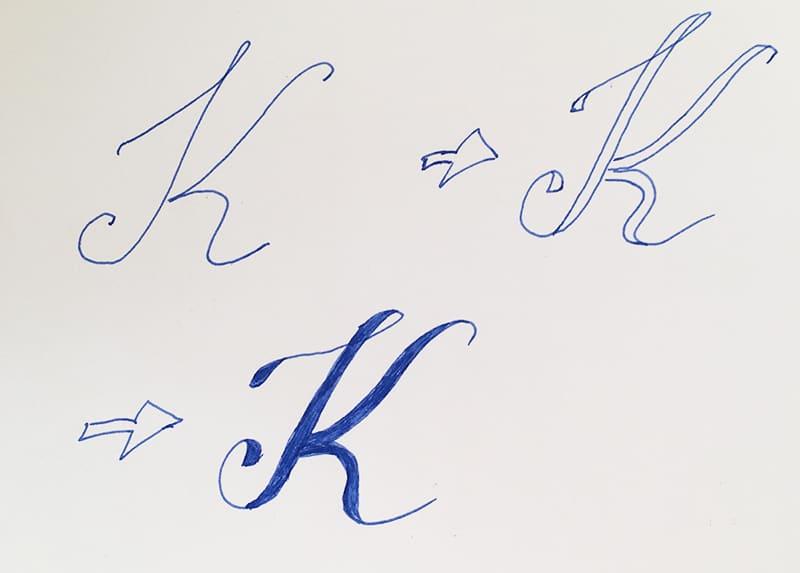 Von der Schreibschrift zum Handlettering