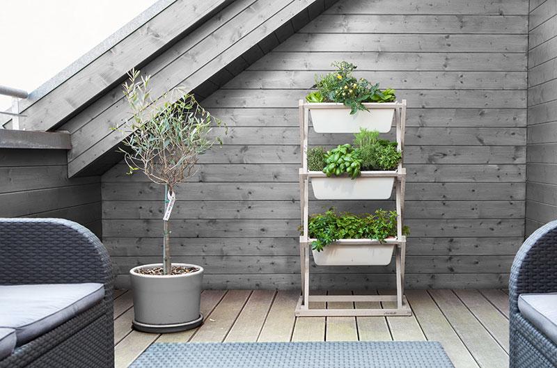 Vertikaler Garten auf 3 Etagen