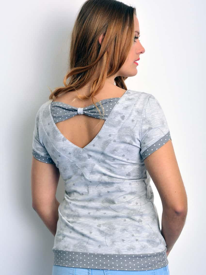 Shirt mit Rückenschleife