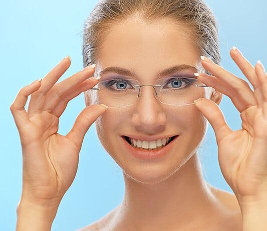 Randlose Brillen sind im Trend