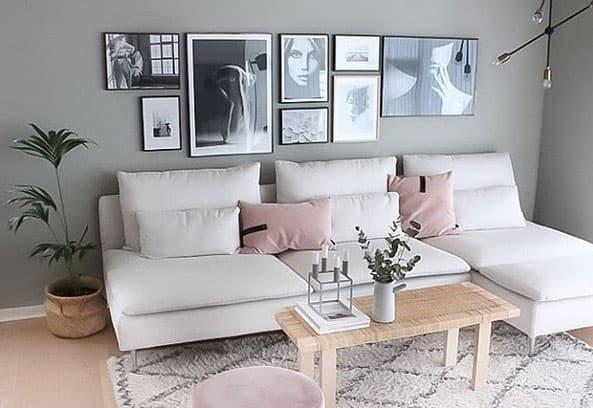 einzigartige fotowand ideen mit bilderrahmen kreativliste. Black Bedroom Furniture Sets. Home Design Ideas