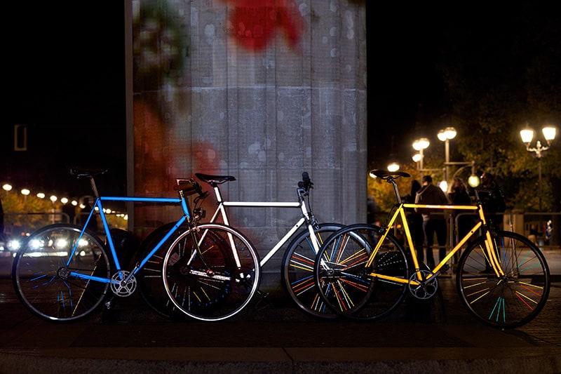Style dein Rad ganz individuell mit reflektierenden Aufklebern