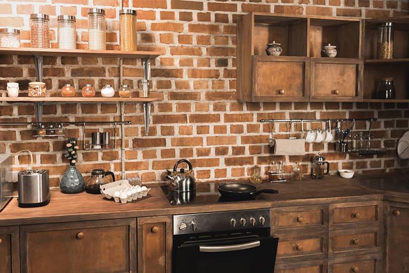 Verblender für Innenräume als kreative Wanddekoration in der Küche
