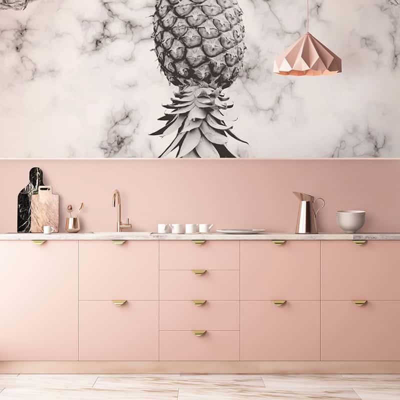 Ananas Fototapete für die Küche