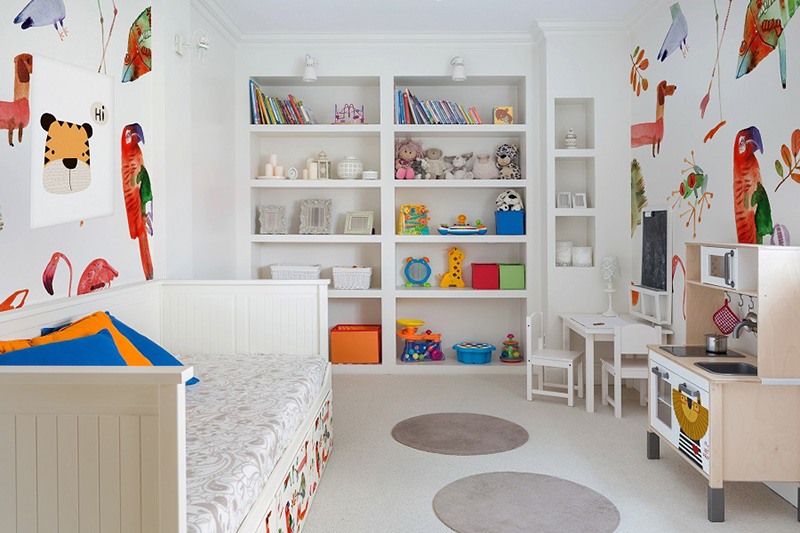 Kinderzimmerwände mit Tapeten bunt gestalten