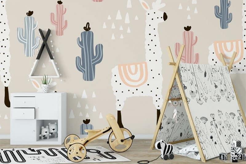 Ideen für die Wanddeko mit Lamas im Kinderzimmer - kreativLISTE
