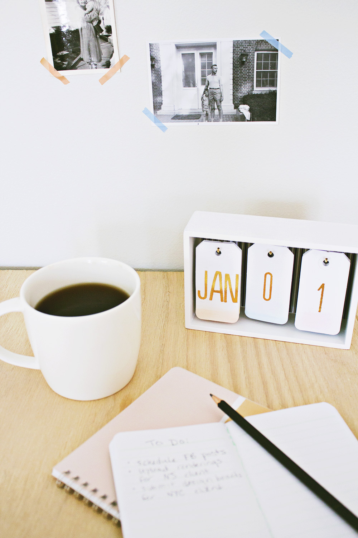 DIY Kalender für den Tisch