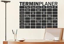 Familienkalender als Wandtattoo zum Beschriften