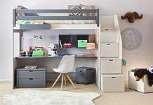 Kinderbett mit Stufen