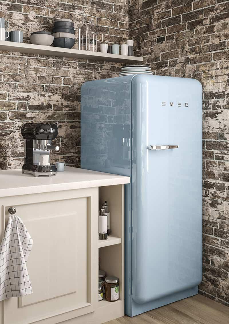 Kühlschrank im Retrolook