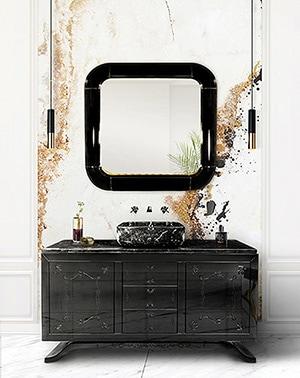 Spiegel mit abgerundeten Kanten erinnern an die 70er-Jahre