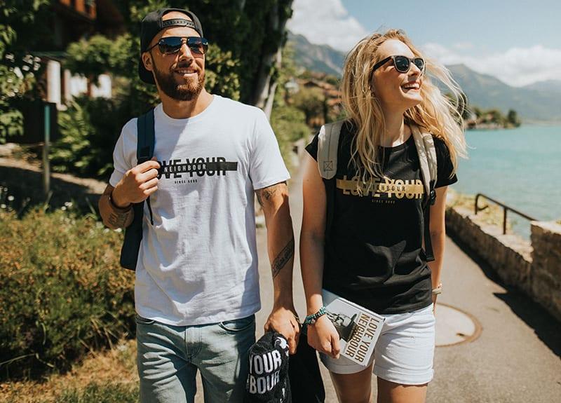 Coole T-Shirts mit Logo sorgen automatisch für das Marken-Branding
