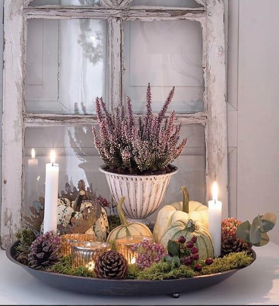 Herbstdeko mit Schale